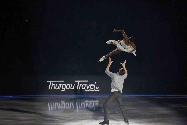 Vanessa James and Morgan Cipres Art On Ice Switzerland