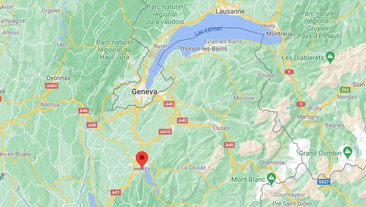 google Maps Annecy