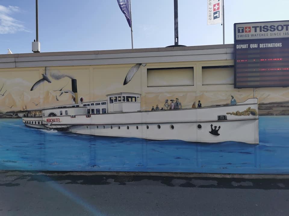 Amazing street art in Neuchatel