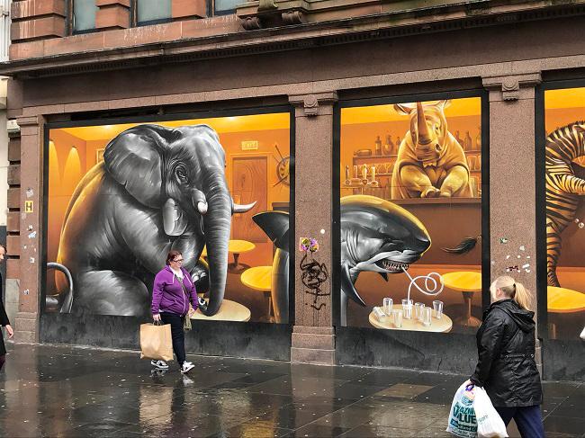 argyll street cafe glasgow street art tours
