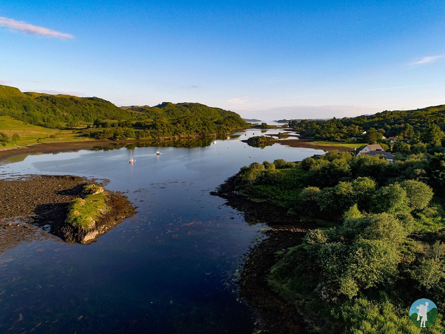 isle of seil oban points of interest drone aerial