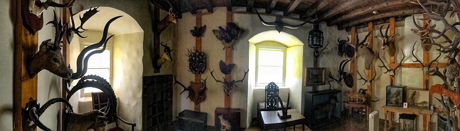 castle fraser trophy room jacobite trail