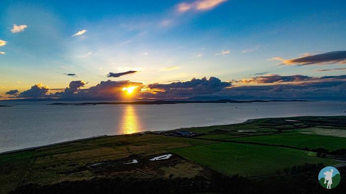 gigha drone sunset kintyre