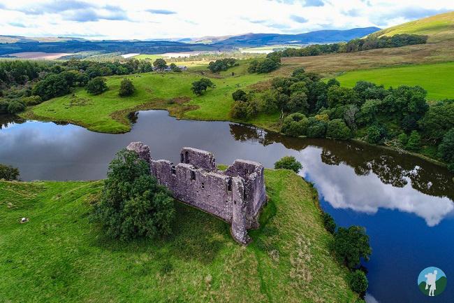morton castle drone scotland photography video filming