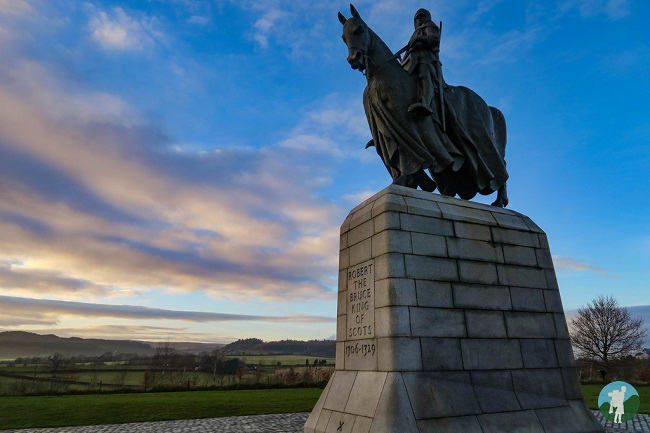outlaw king bruce statue scotland 2018