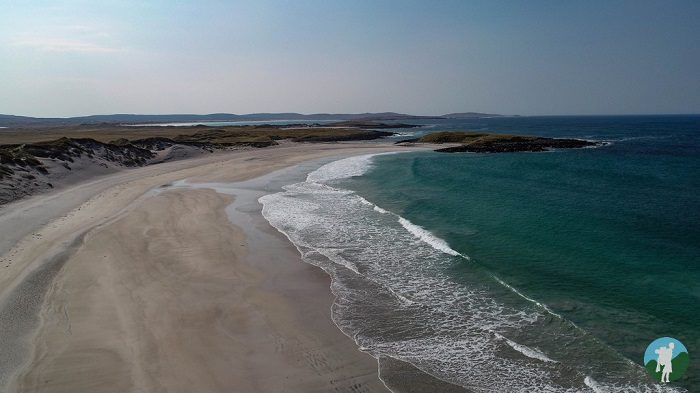 walking holidays scotland drone