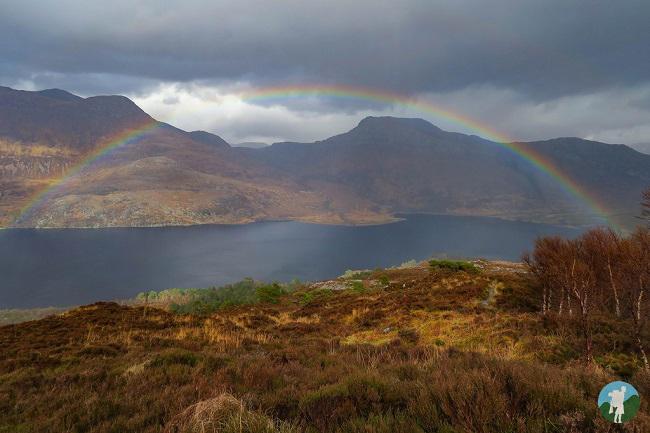 loch maree rainbow north coast 500