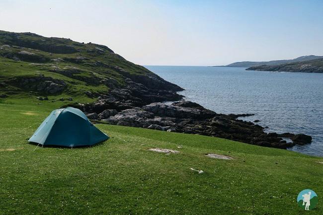 camping beach western isles