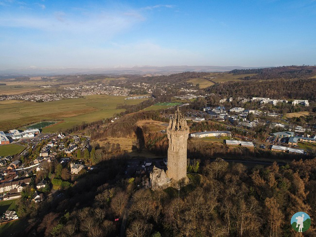 drone scotland vlog wallace monument