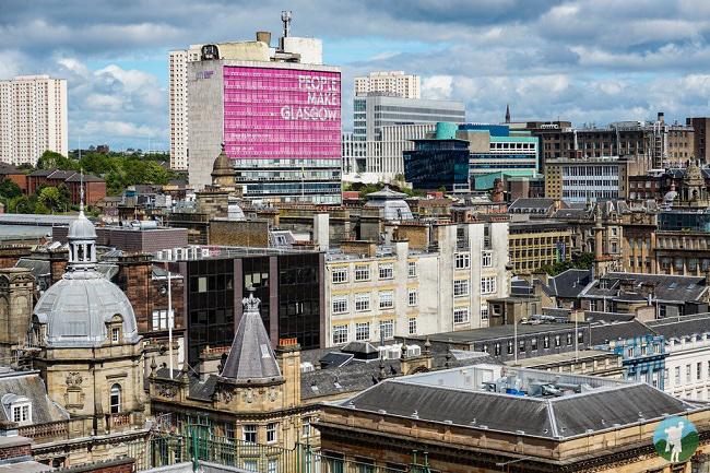 glasgow scotland cityscape view