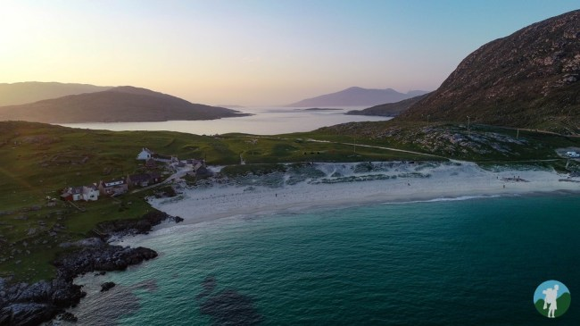 drone harris hushinish beach