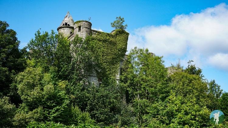exterior abandoned buchanan castle