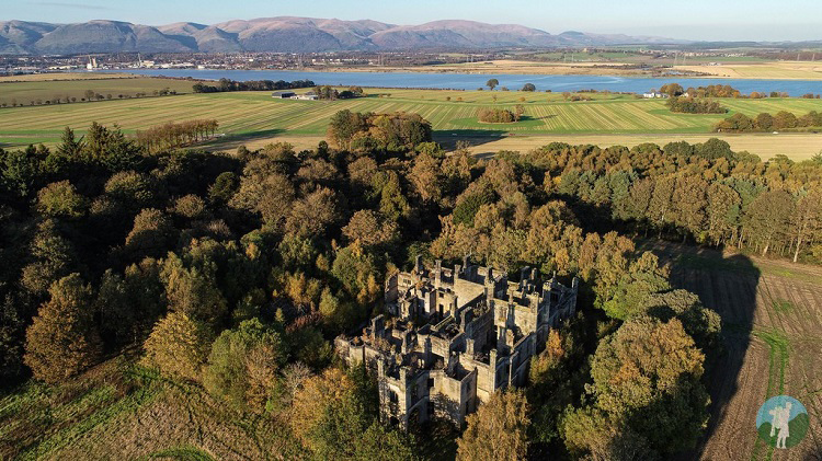 dunmore house castle derelict places drone