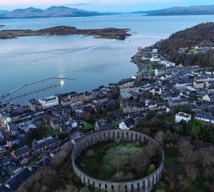 oban drone mccaig's tower