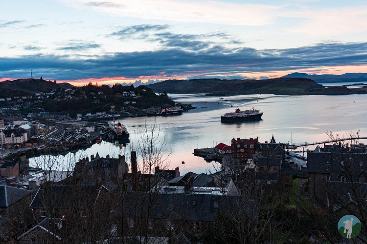 oban view mccaig's tower