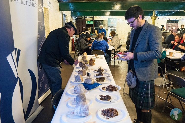 oban winter festival haggis competition