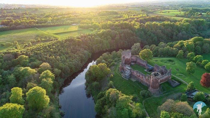 bothwell castle drone