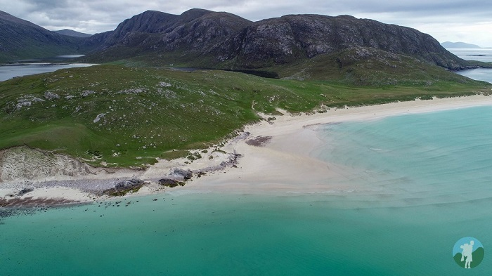 north harris drone scottish island holidays