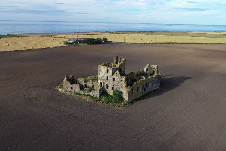 pittulie castle drone