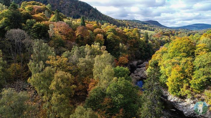 drone perthshire autumn