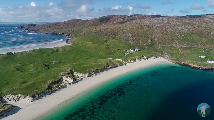 vatersay drone outer hebrides