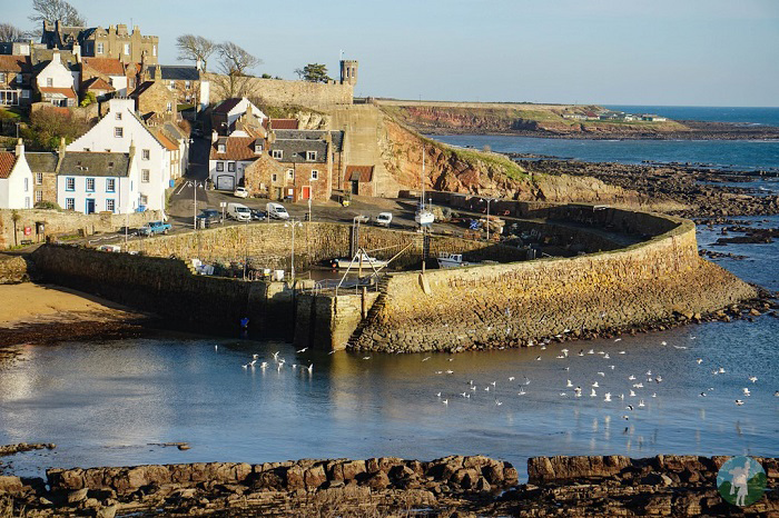crail harbour view east neuk