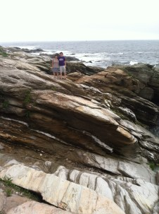 Cory and Leigh Vincola on the Rhode Island coast
