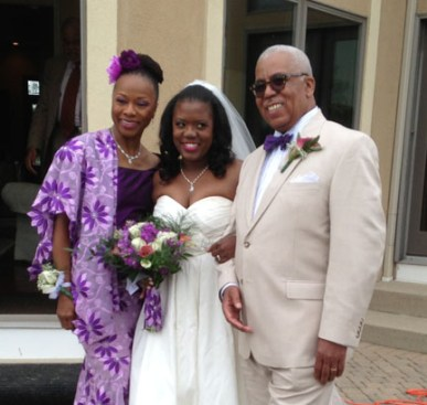 The Bride with her parents!
