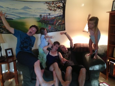 Getting crazy with the Ross family! Sarah, Beth, Andrew, and Emily!