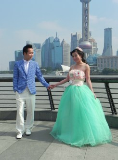 China, Shanghai, The Bund, Promenade, Wedding