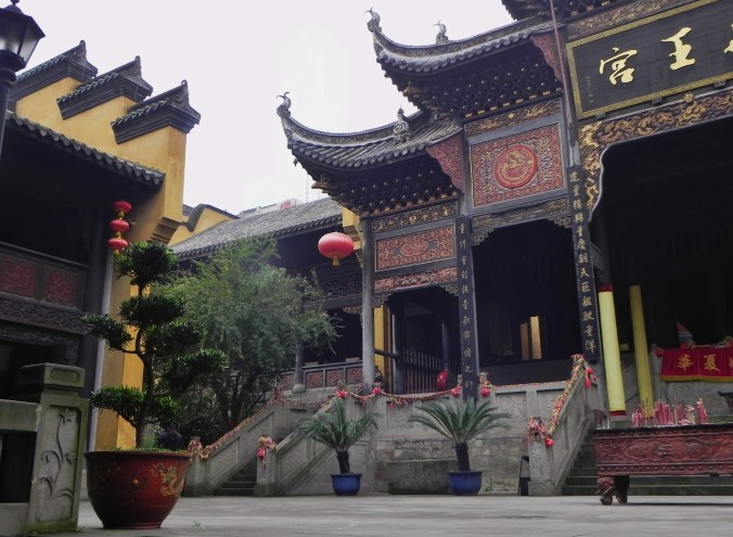Chongqing, Old Town, Guild Hall, Courtyard