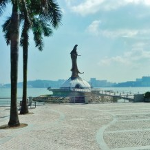 China, Hong Kong, Macau, harbor front, mermaid