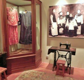 China, Hong Kong, Hong Kong History Museum, ladies, tailor, shop, sewing machine