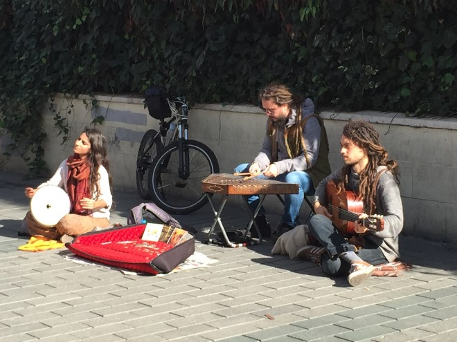 Buskers on Istiklal Caddesi, Istanbul