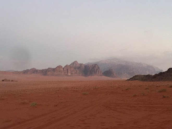Early morning in Wadi Rum, Aqaba Province, Jordan