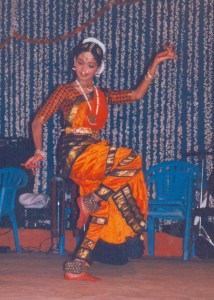 A Barata Natyam dancer performs on New Year's Eve in Chennai
