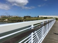 The new bridge connects Heron's Head to Hunter's Point Shoreline Park