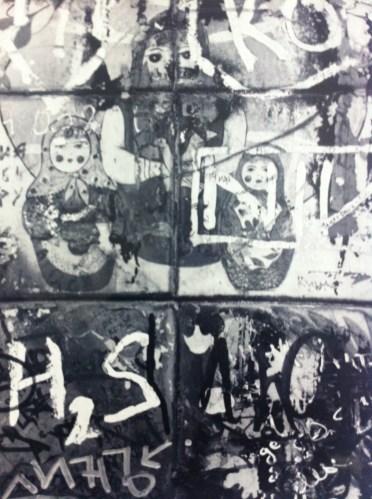 The graffiti clad Tsoi Wall in Arbat, Moscow.