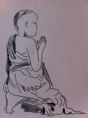 Young Buddhist in Luang Prabang - from my Indo China sketchbook.