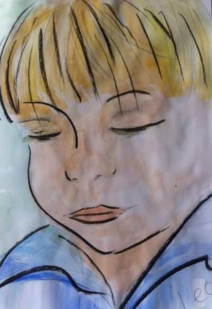 Portrait of Leon, aged 4.