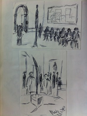 "Sketches from the ""Paris Exhibition"" at the Royal Academy in London."