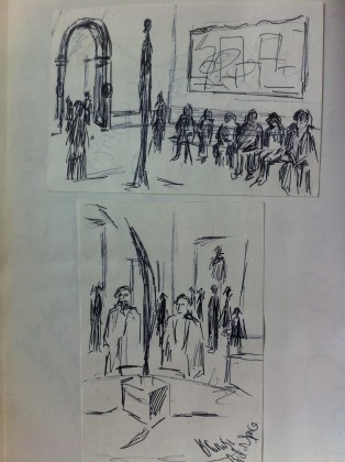 """Sketches from the """"Paris Exhibition"""" at the Royal Academy in London."""