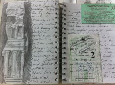 My visit to Petra in Jordan, from my Damascus Sketchbook