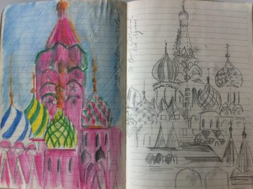 A page from my Russia Sketchbook