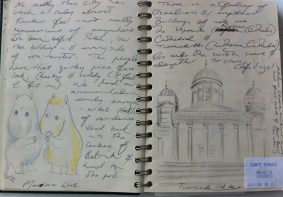 Helsinki Cathedral and Moomins - from my Baltic States sketchbook.