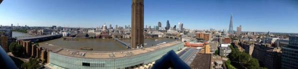 Panoramic view of London from the top floor of the Blavatnik Building