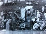 Women Washing on the Ghats in Banaras (Varanasi), India
