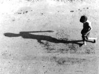 Boy with shadow in Havana, Cuba