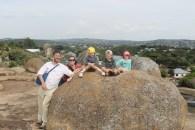 Mark, Ali, Lottie, Leon and Frida on the Dancing Rocks in Mwanza, Tanzania