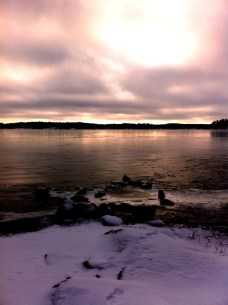 Early morning run along the banks of Lake Mälaren